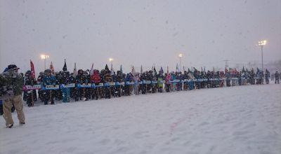 雪合戦の開会式